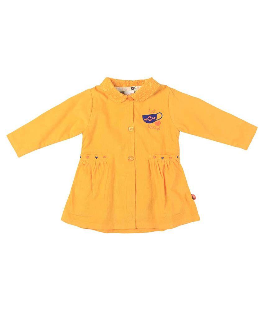 FS MiniKlub Yellow Buttoned Jacket