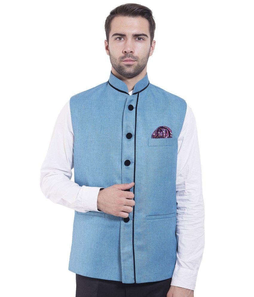 Wintage Blue festive Waistcoats