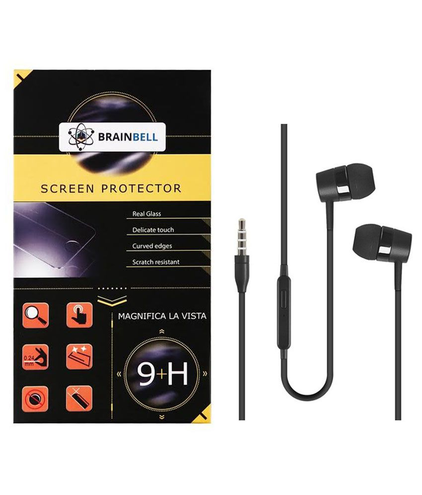 Brainbell Screen Guard For Micromax Bolt 320 With Earphone