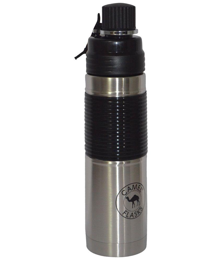 Sports Sipper Bottle: Camel Black & Silver Sipper Sports Bottle 500 Ml: Buy