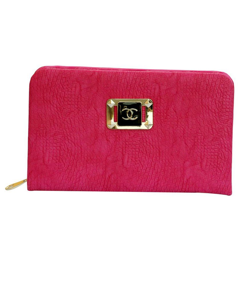 Simi's Non Leather Pink Women Regular Wallet
