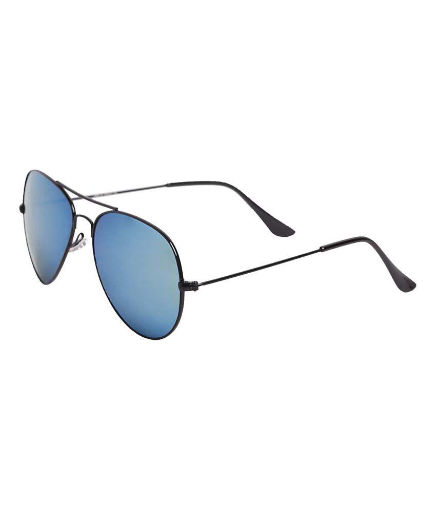 Hh Avtblkmrcwhy Blue Metal Aviator Sunglasses For Men