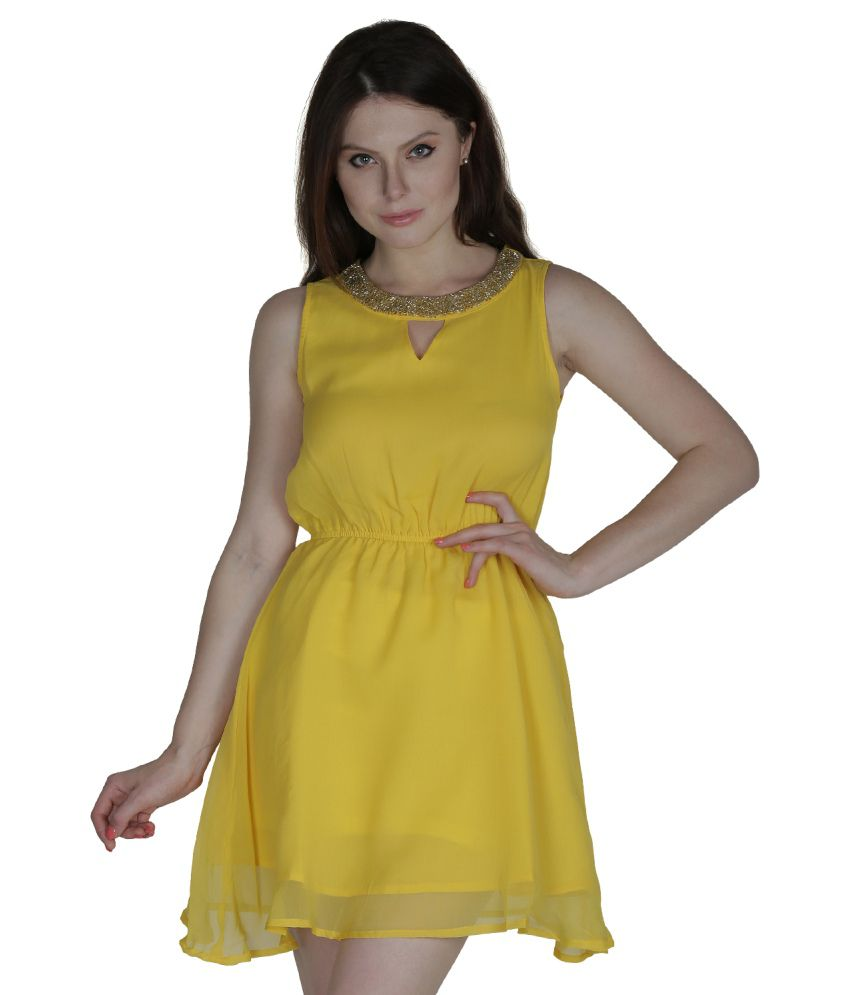 Heart Made Yellow Polyester Dresses