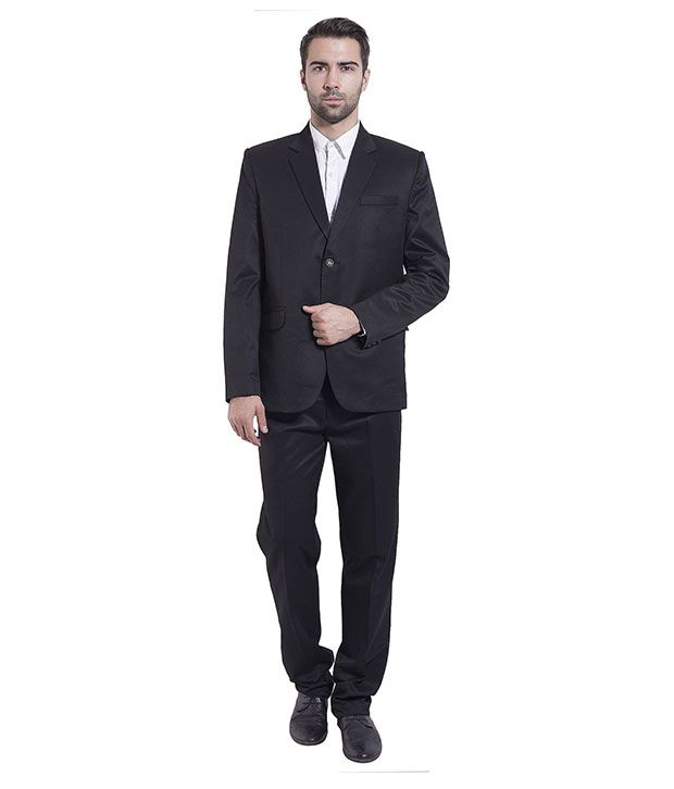 Wintage Black Poly Blend Suit
