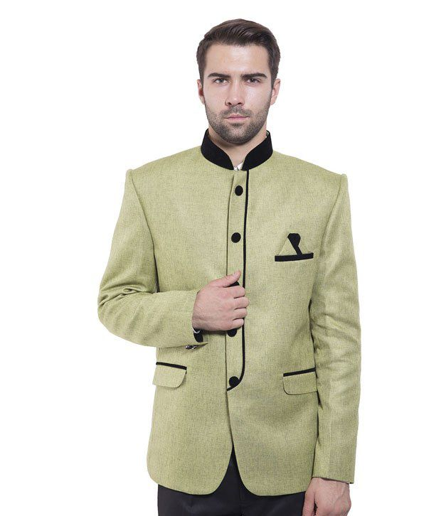 Wintage Green Rayon Blazer