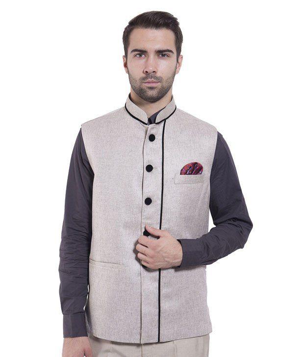 Wintage Grey Rayon Waistcoats