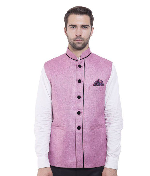 Wintage Pink Rayon Waistcoats