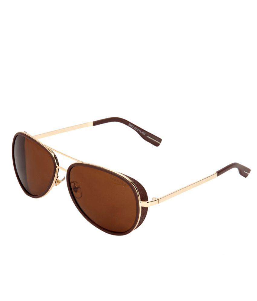 Ferrero Brown Medium Aviator Unisex Sunglasses