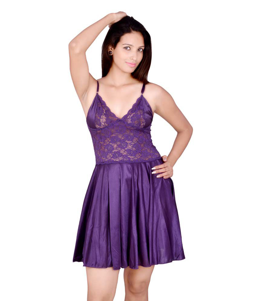 Buy Kanika Purple Satin Nighty Online at Best Prices in India - Snapdeal 1509692ed