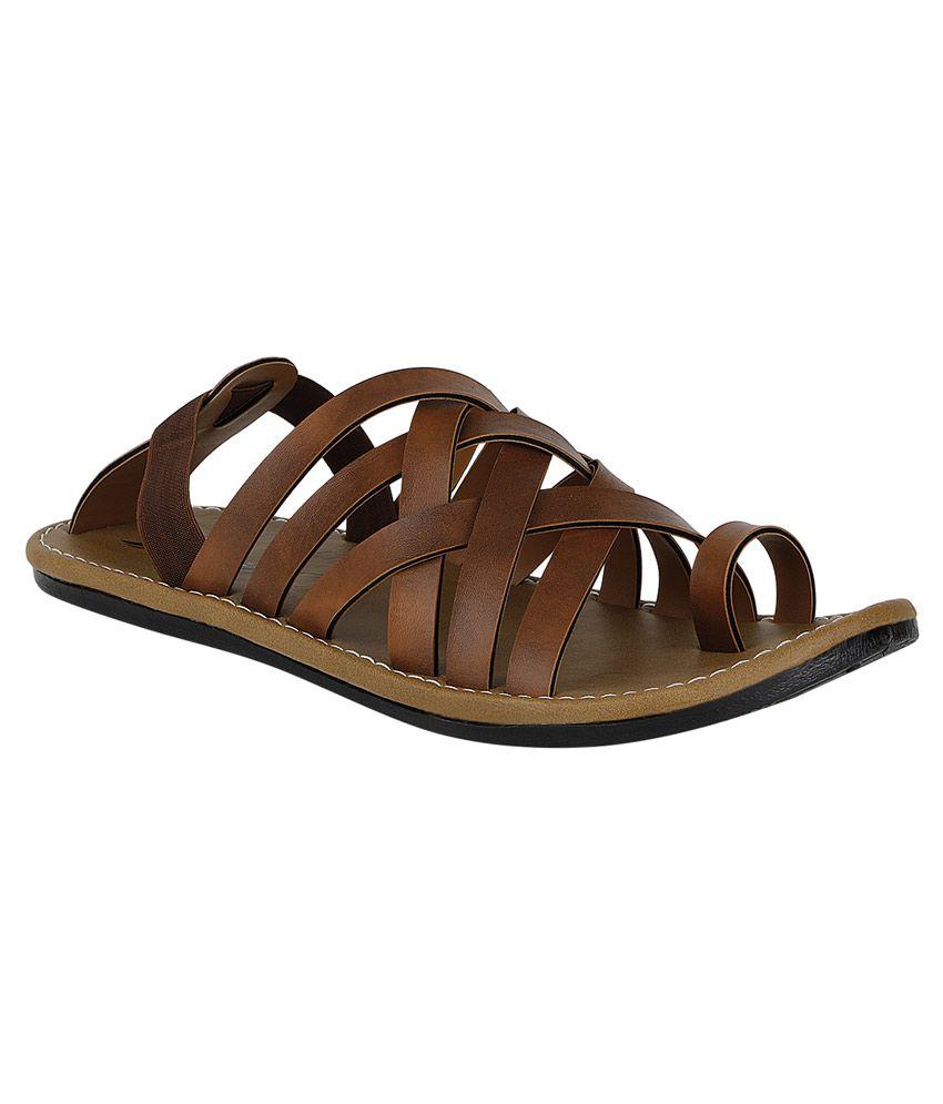 2aaf37aacb98 Kraasa Tan Sandals Price in India- Buy Kraasa Tan Sandals Online at Snapdeal