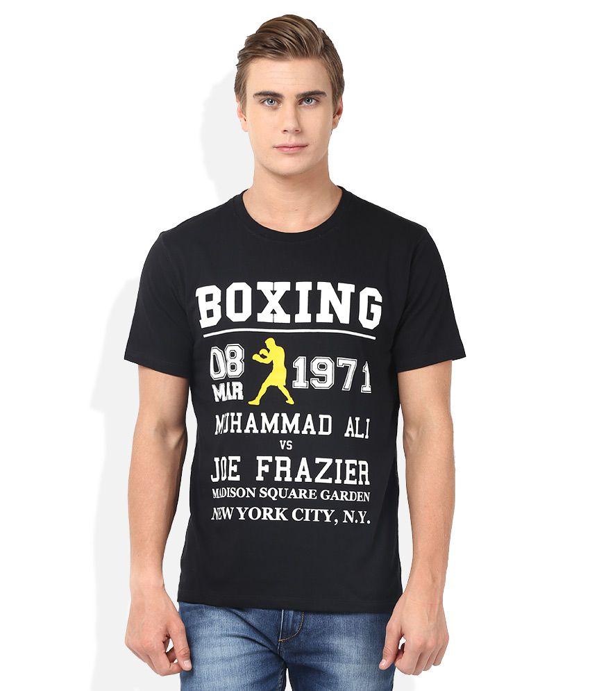 2go Black Round Neck T-Shirt