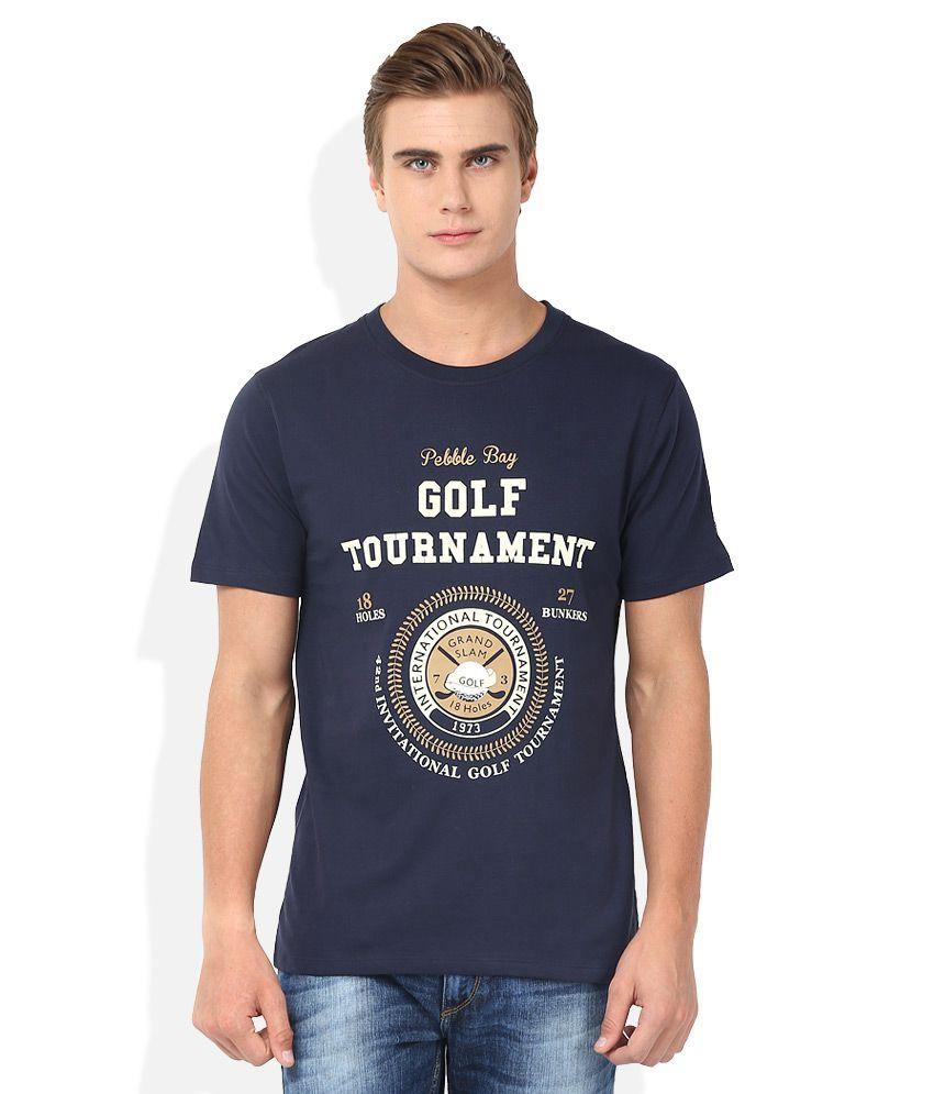 2go Navy Round Neck T-Shirt