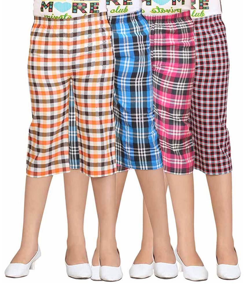 Sini Mini Multicolour Capris - Pack of 4