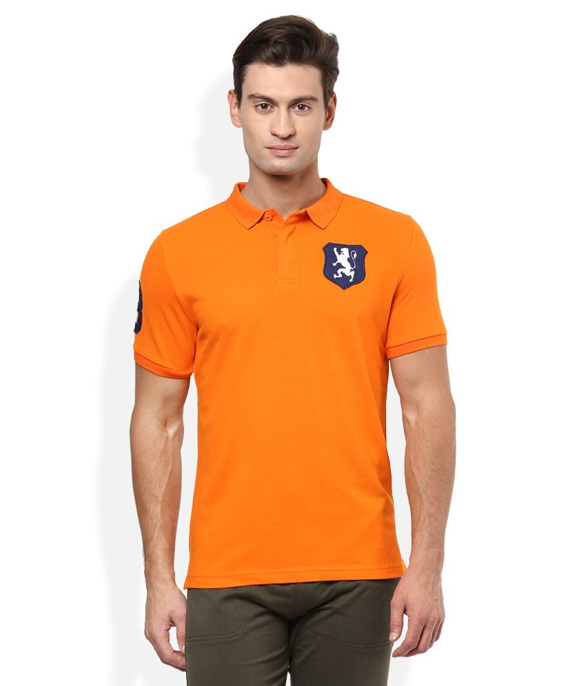 b530f1446 Giordano Orange Solid Polo T Shirt - Buy Giordano Orange Solid Polo T Shirt  Online at Low Price - Snapdeal.com
