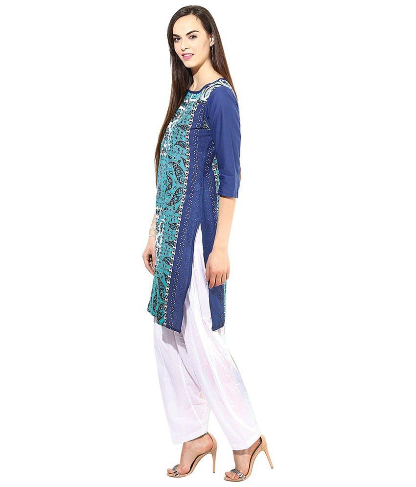 972ea889c3 Jaipur Kurti Cotton Kurti With Patiala - Stitched Suit - Buy Jaipur ...