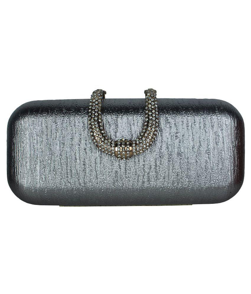 Shoebox P.U. Clutch-Gray