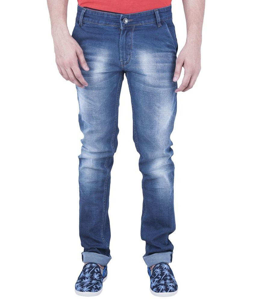 Wagon-9 Dark Blue Slim Fit Jeans
