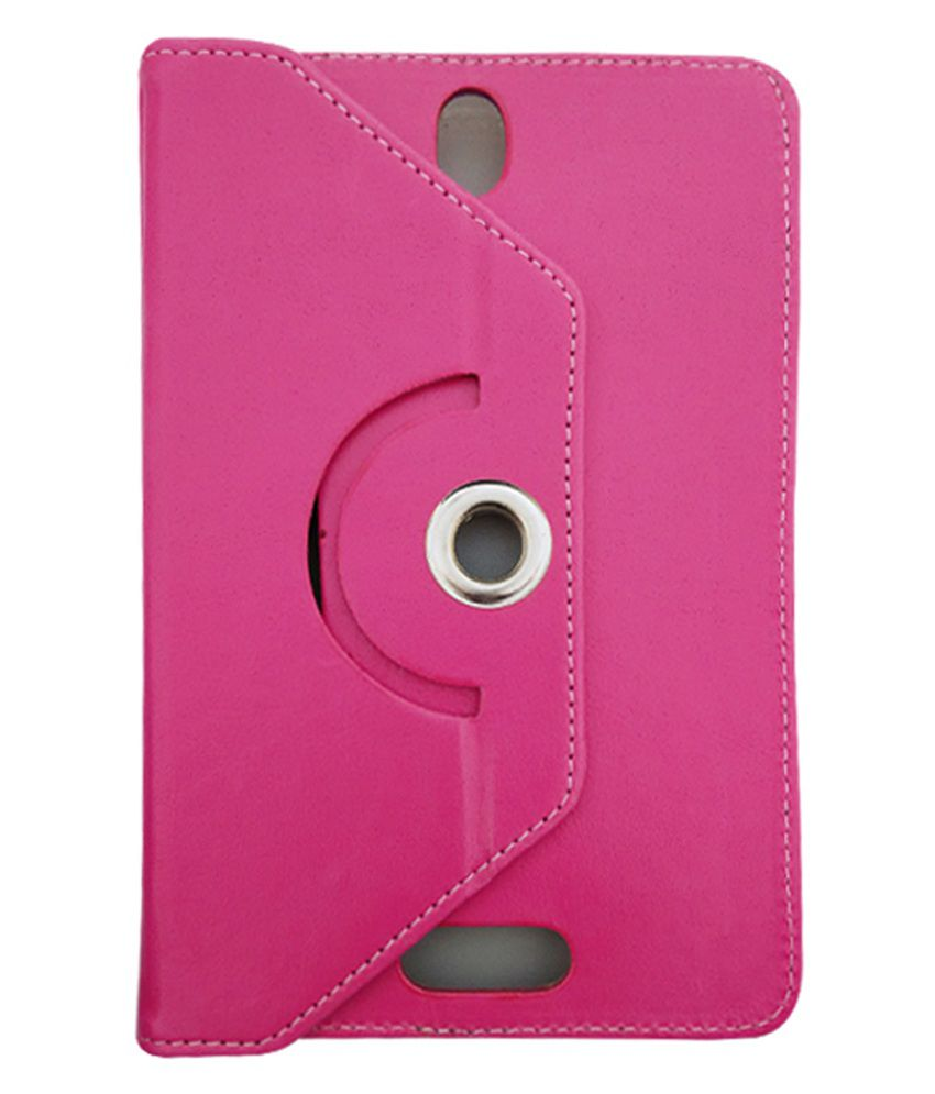 Fastway Flip Stand Cover For BSNL Penta IS 709C T Pad -Pink