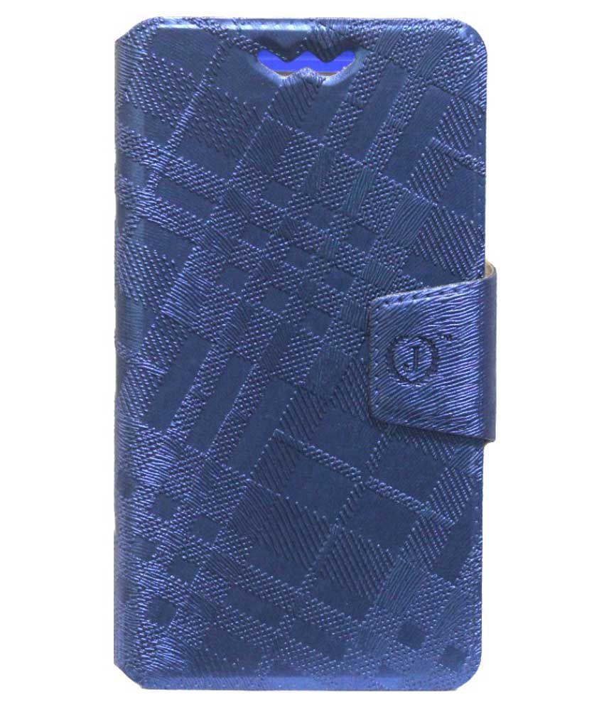 Jo Jo Flip Cover for Celkon Millennium Vogue Q455 - Blue