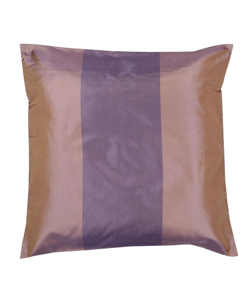 Marmitte Brown Stripes Polyester Cushion Cover