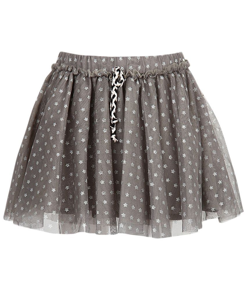 Stop by Shoppers Stop Gray & Silver Net Skirt