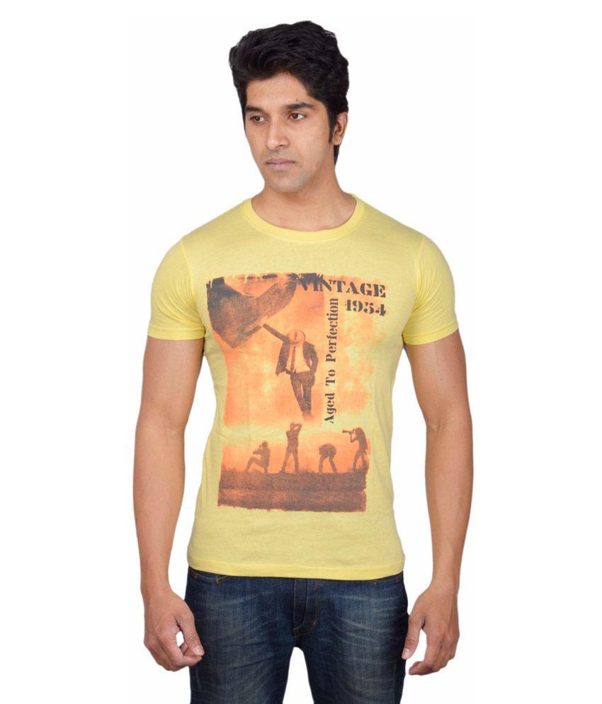 Tavara Yellow Cotton T Shirt