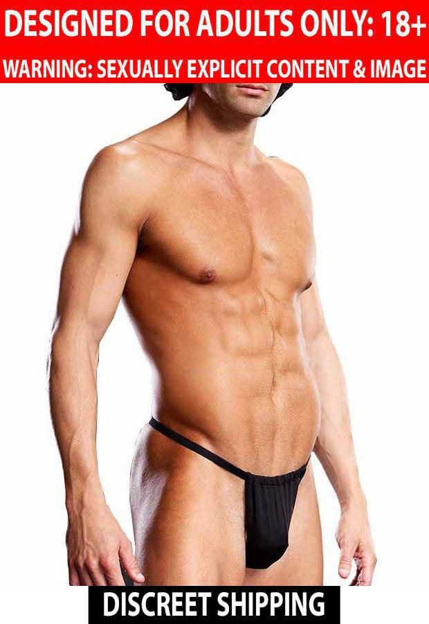 Blueline Blue Line: Men's Innerwear Performance Microfiber V String Black LXL