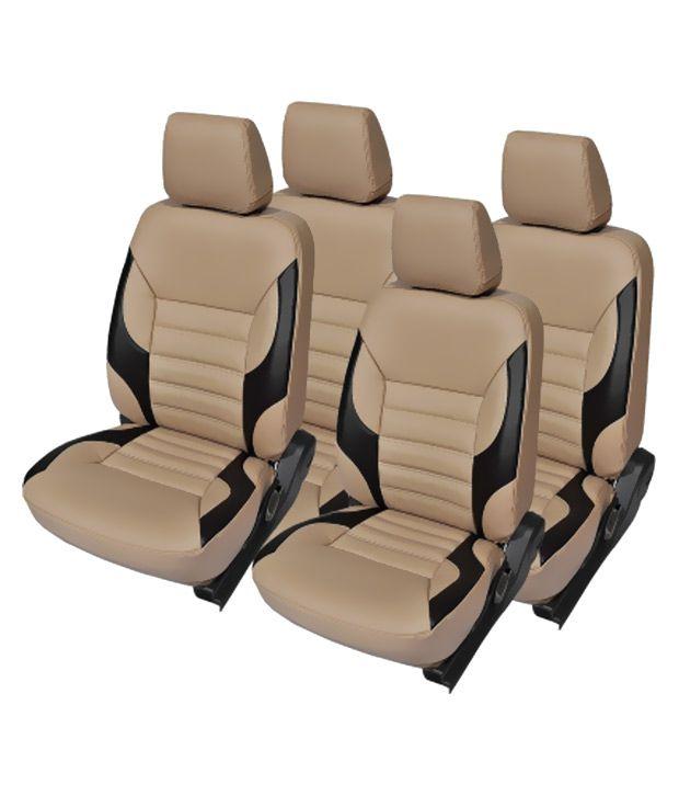 kvd autozone car seat cover for maruti zen estilio beige buy kvd autozone car seat cover for. Black Bedroom Furniture Sets. Home Design Ideas