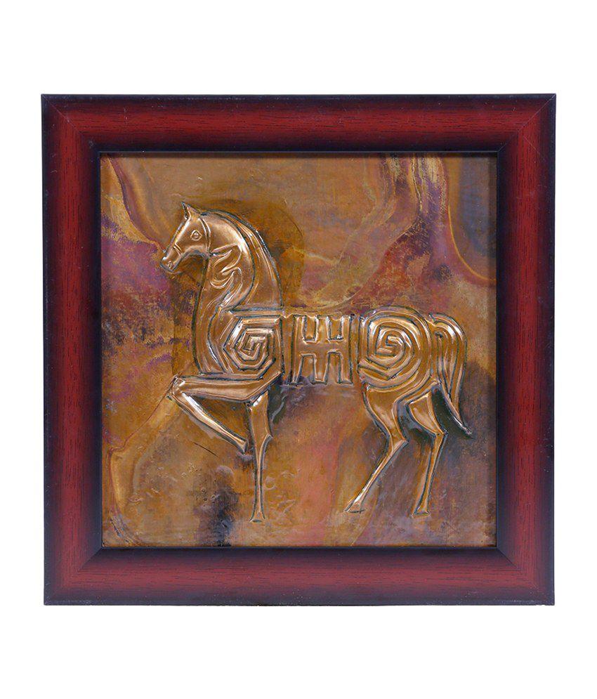 Manjusha Decorative Horse in Fibre frame