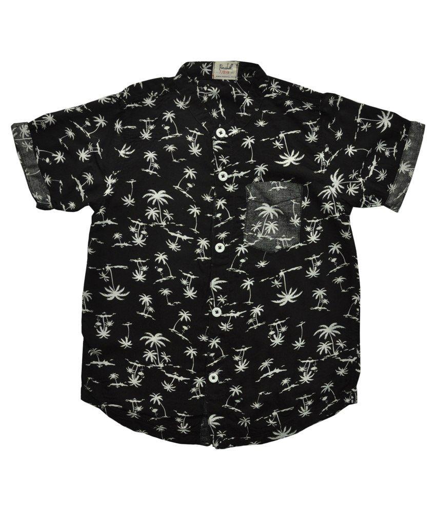 Pinehill Black Cotton Baby Shirt