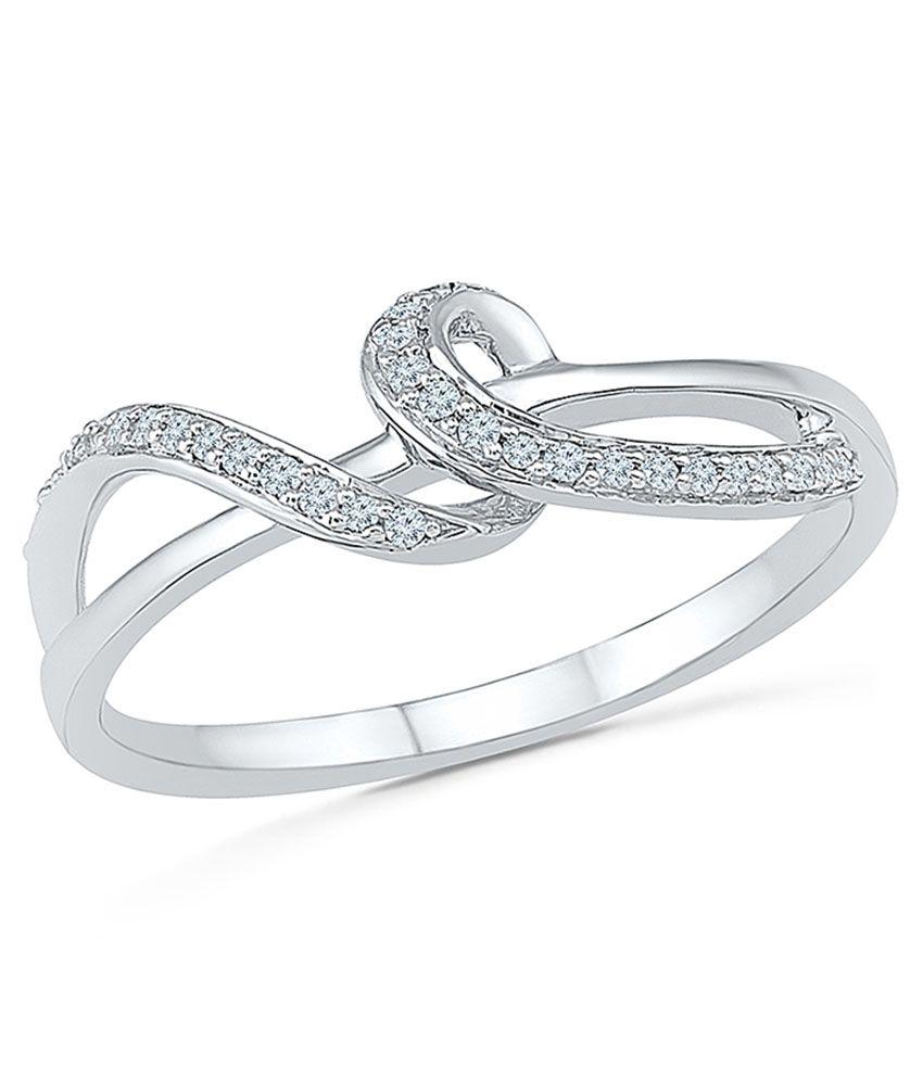 Radiant Bay's Curvilineal Diamond Ring in 18k White Gold (Diamond Quality VS-GH)