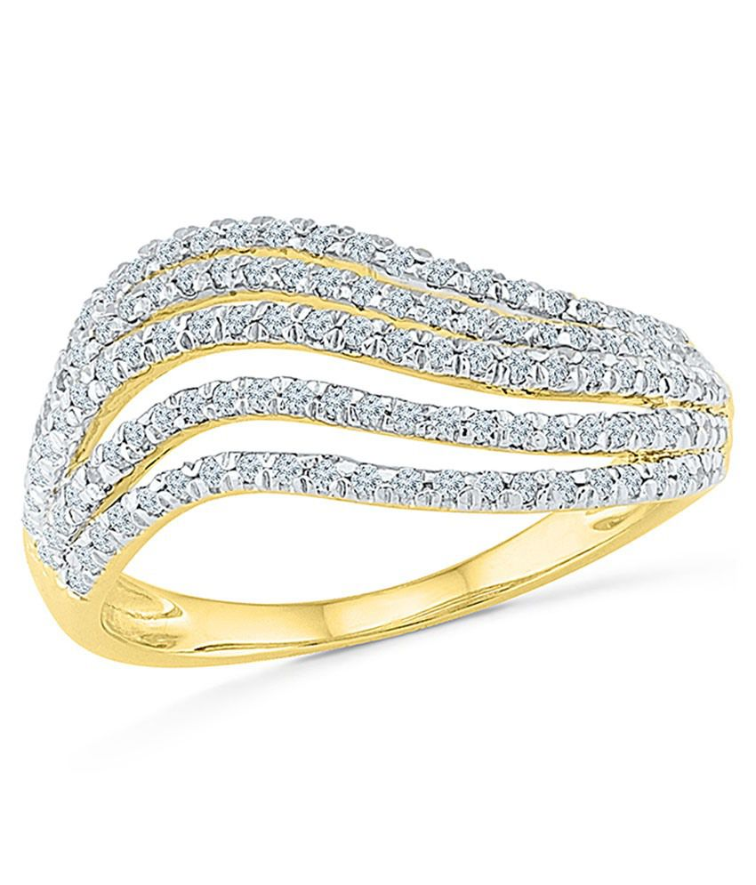 Radiant Bay's Love for layers Diamond Ring in 14k Yellow Gold (Diamond Quality SI-GH)