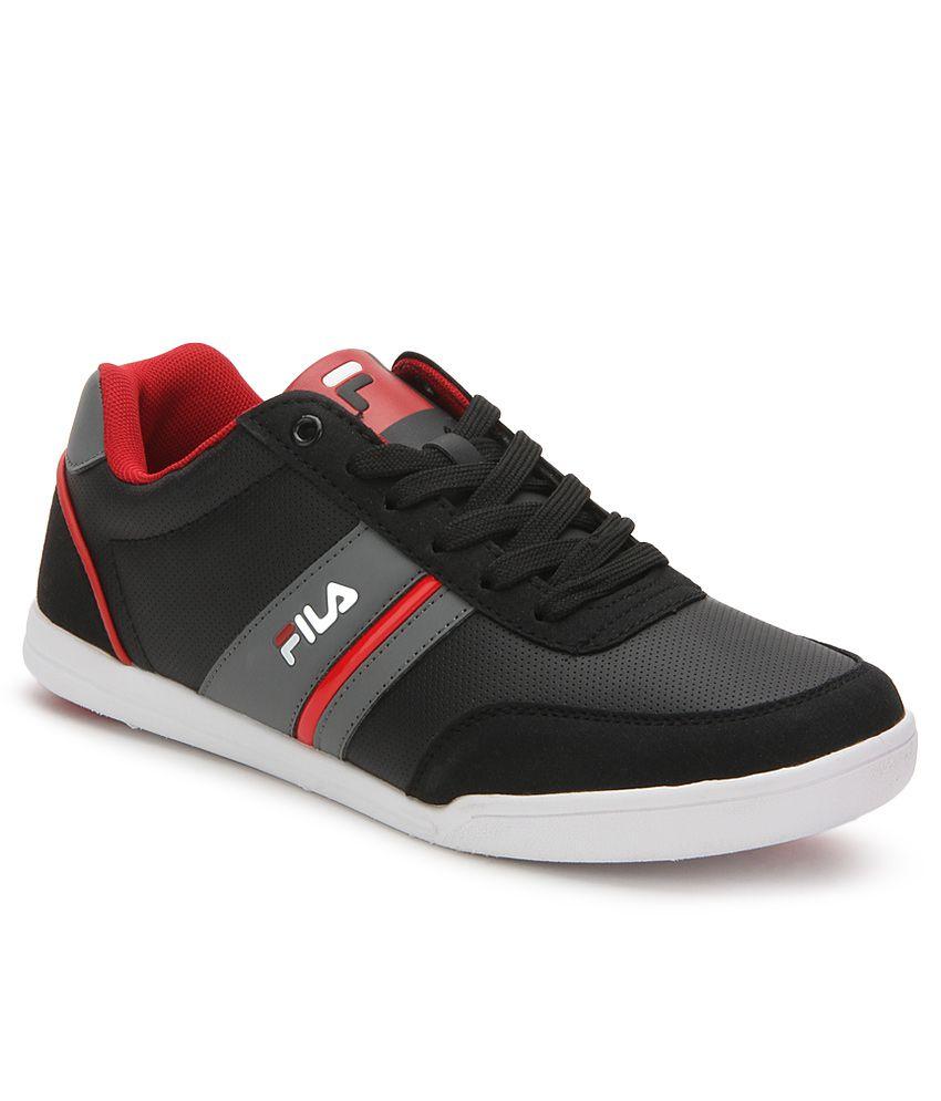 24ac20f00ed0 Fila Nofri Black Casual Shoes - Buy Fila Nofri Black Casual Shoes Online at  Best Prices in India on Snapdeal