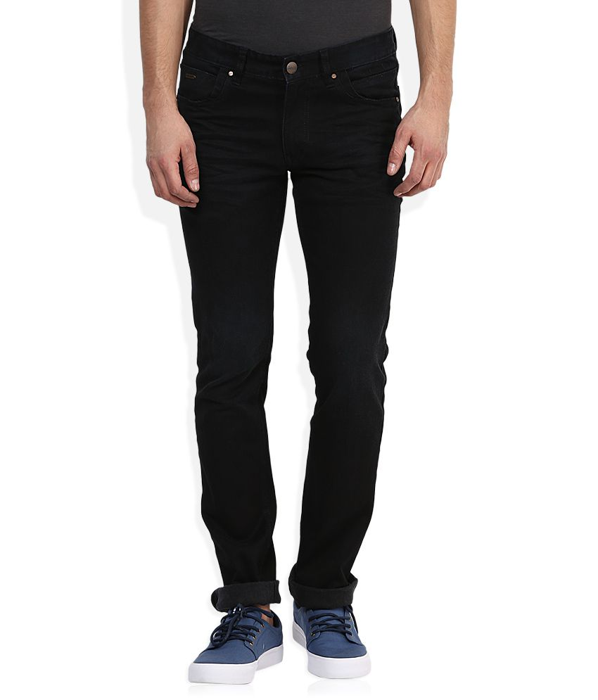 Numero Uno Feather Collection Black Slim Fit Jeans