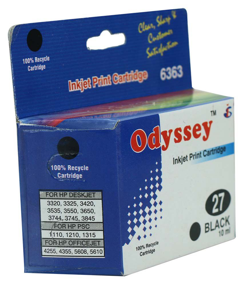 Odyssey Recycled Inkjet Printer Cartridge 27 Black For Hp Deskjet