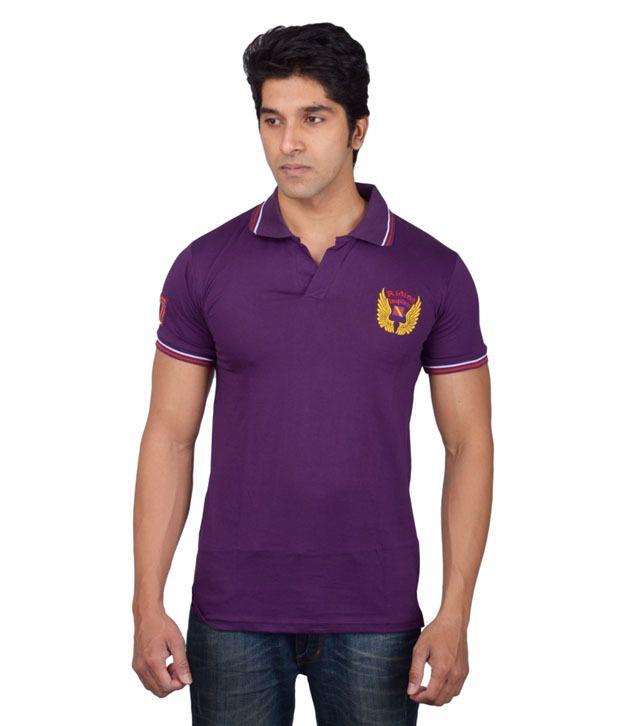 Tavara Purple Cotton T-shirt