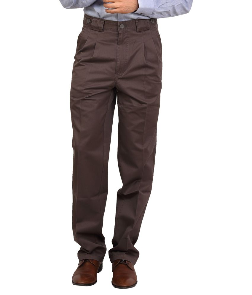 Bottoms Brown Slim Fit Casual Chinos