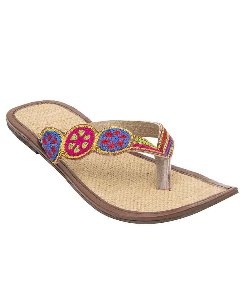 Footrendz Multicolour Flat Slip Ons