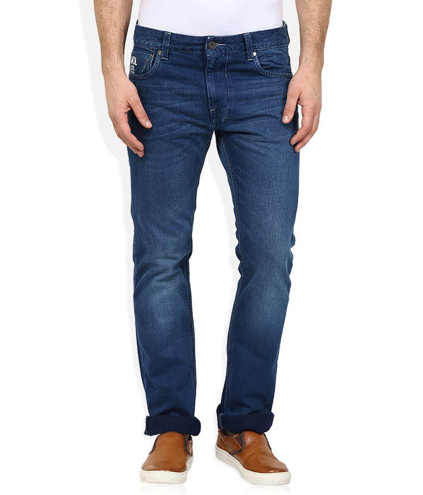 Woodland Blue Regular Fit Jeans