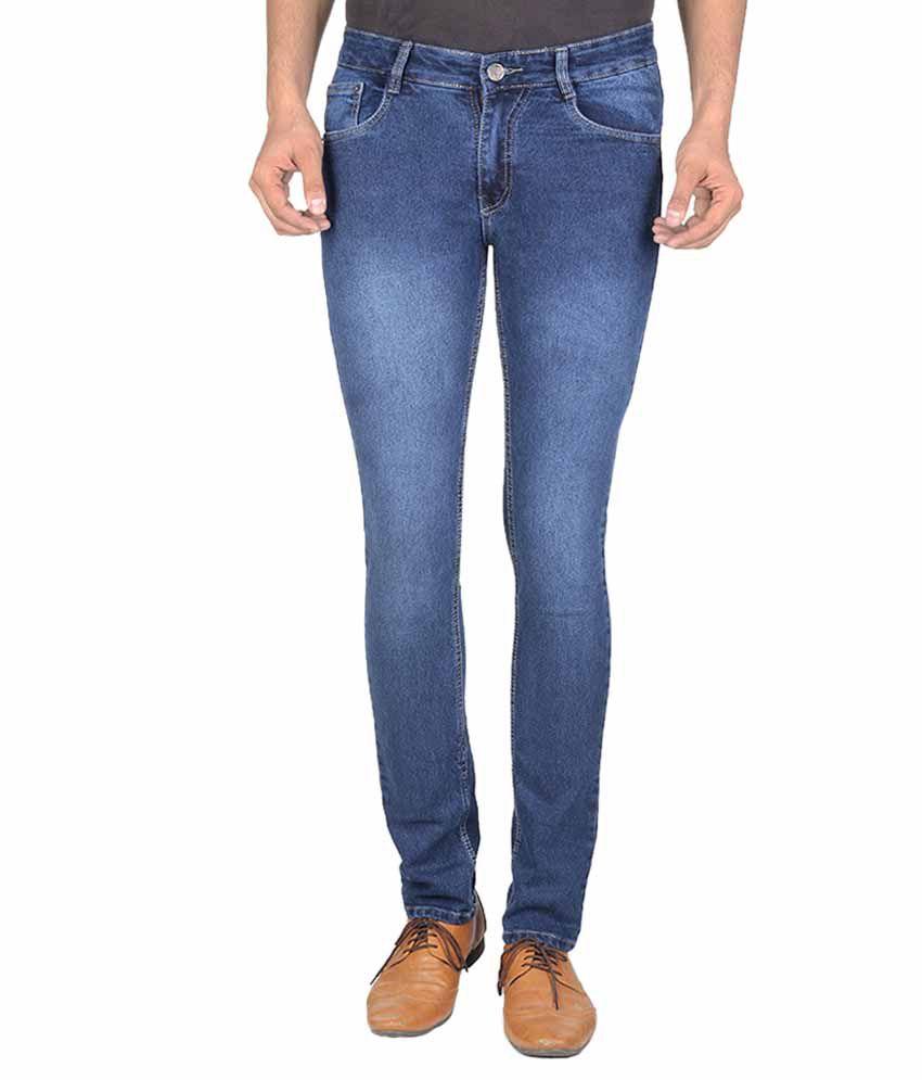 Goodgift Blue Slim Fit Jeans