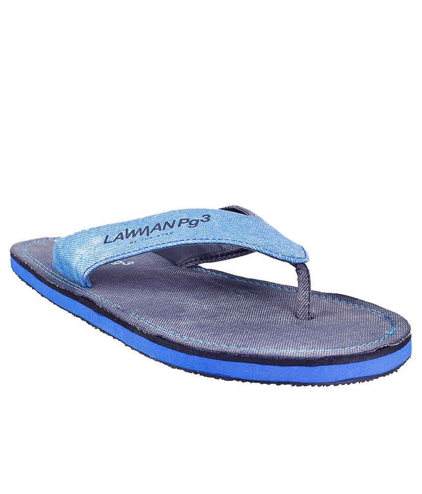 c6f816576faa Lawman Pg3 Black Flip Flops Price in India- Buy Lawman Pg3 Black Flip Flops  Online at Snapdeal