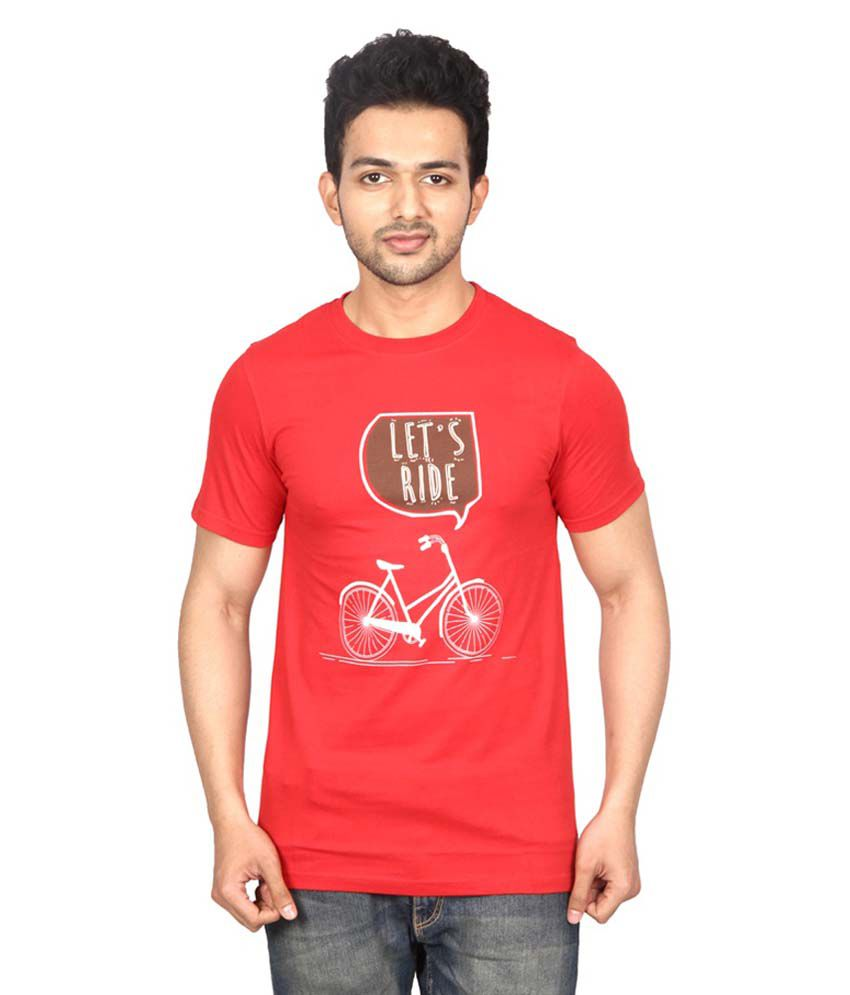 Waykk Red Cotton T-Shirt