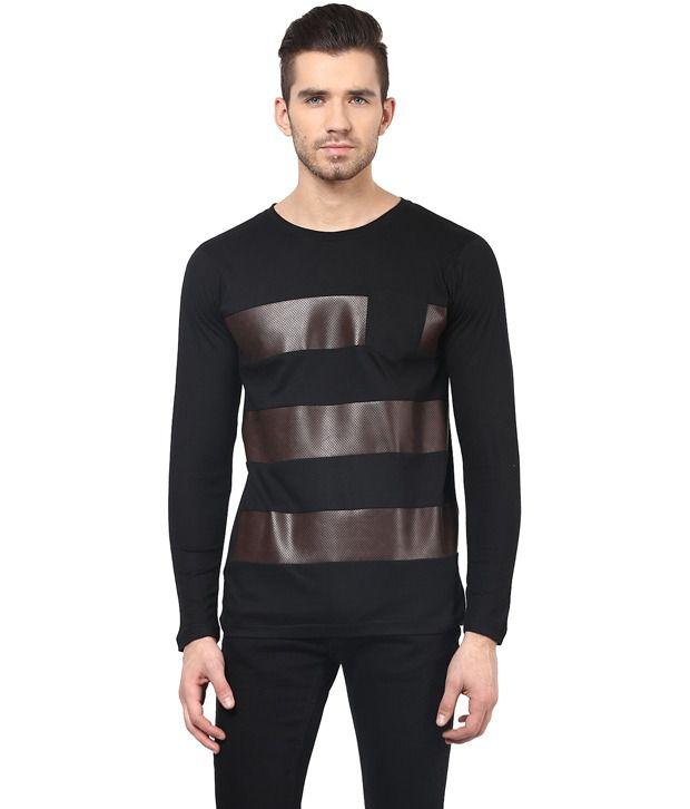 Acomharc Black Cotton T-Shirt