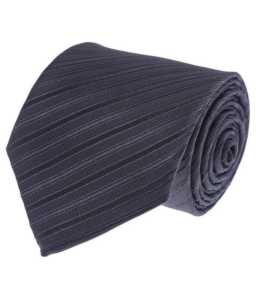 Vermello Black Stripes Micro Fibre Formal Necktie