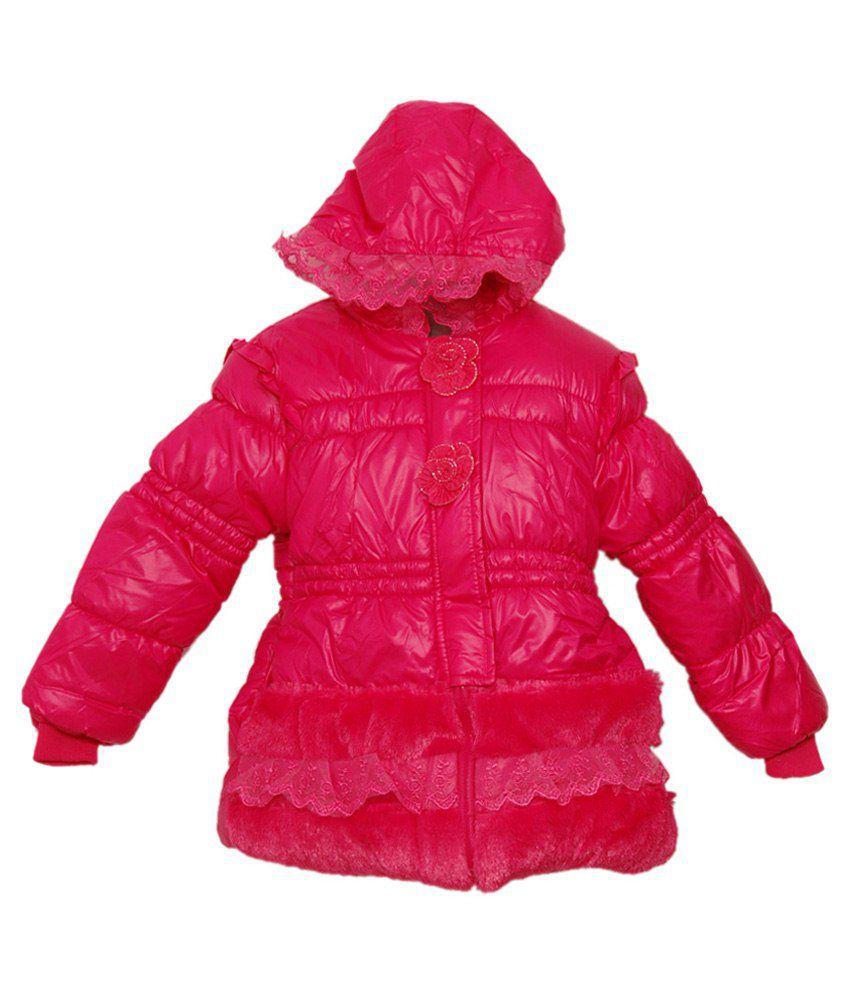 Kid'S Stop Pink Hooded Jacket