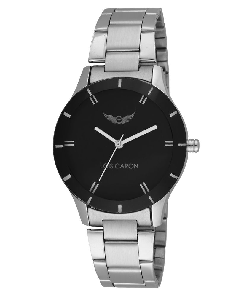 c41169153 Lois Caron Silver Stainless Steel Strap Round Analog Watch Price in India   Buy Lois Caron Silver Stainless Steel Strap Round Analog Watch Online at  Snapdeal