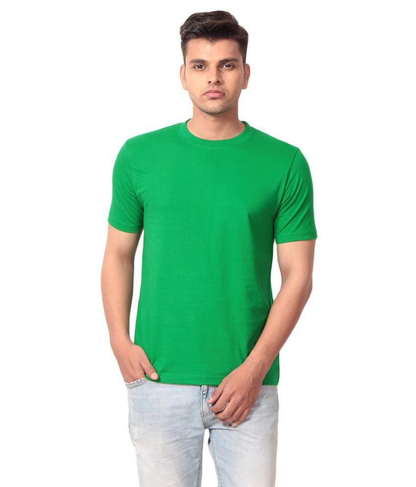 Fashion World Green Cotton T-shirt
