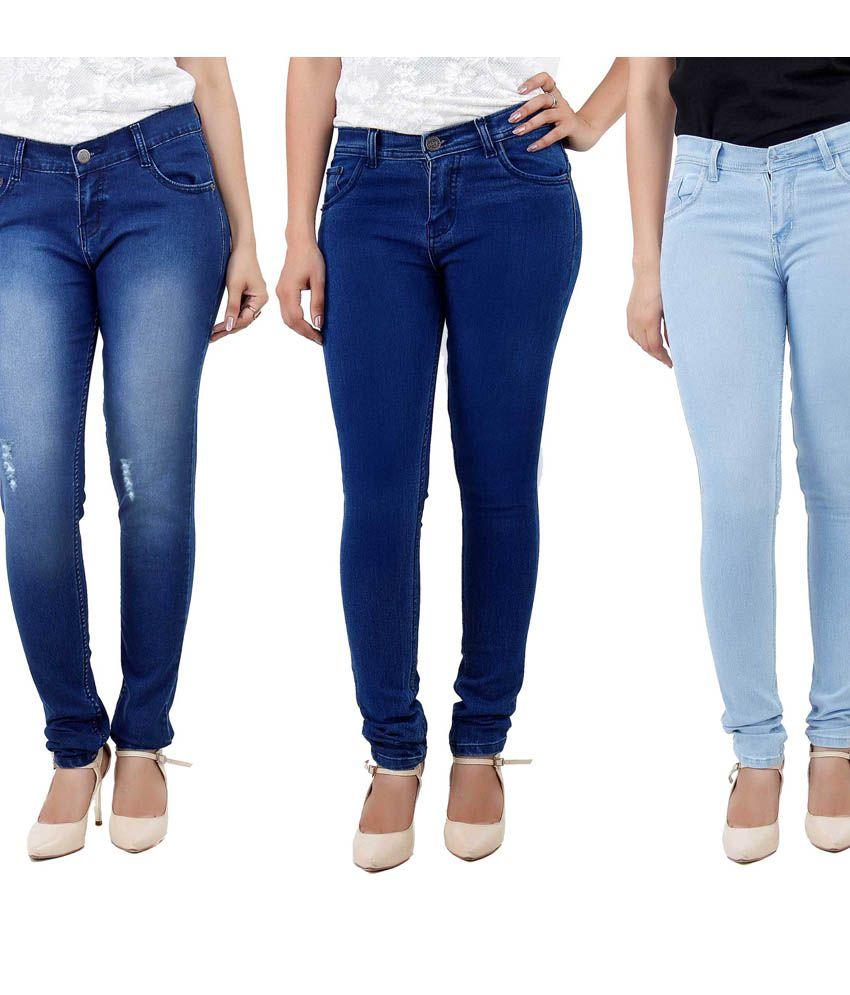 Haltung Blue Denim Lycra Jeans