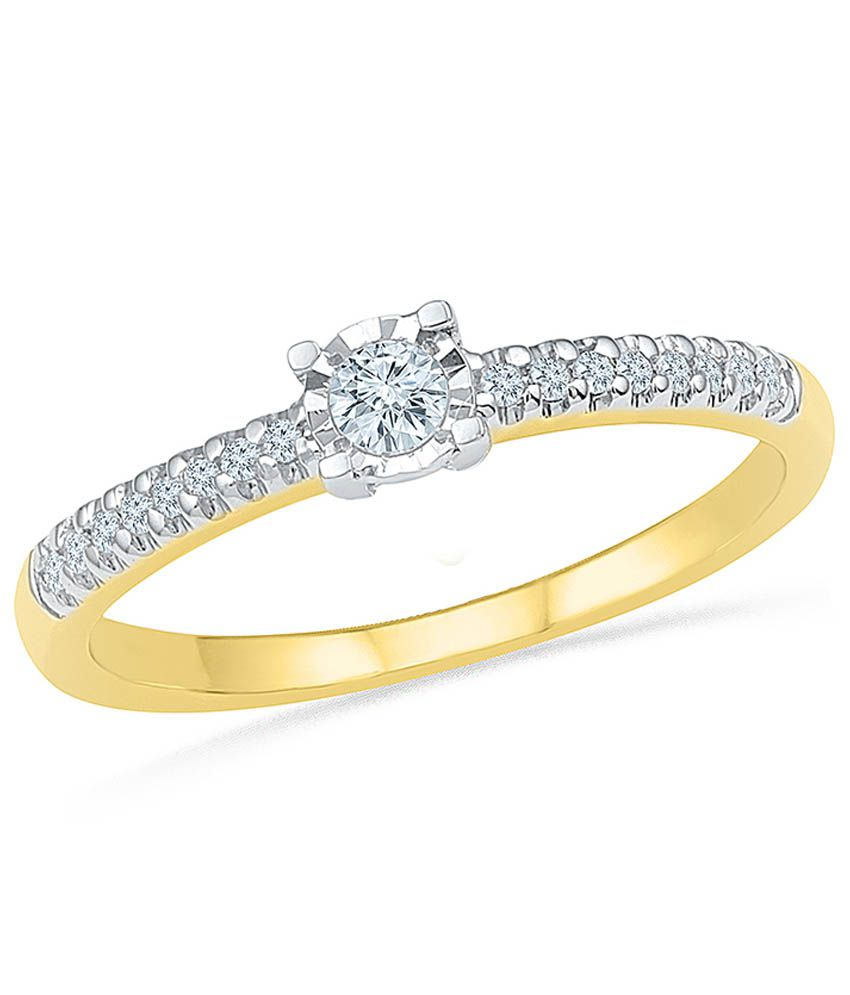 Radiant Bay 18Kt EGL Certified Yellow Gold Ring