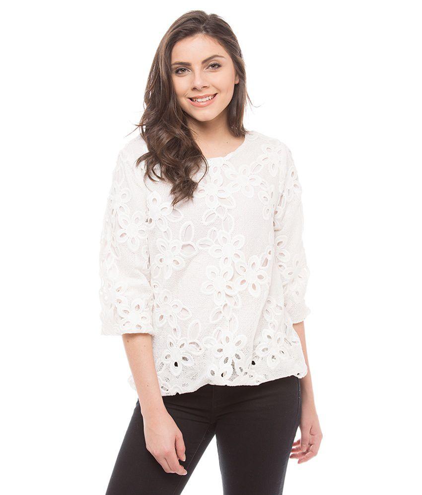Shuffle White Printed Shirts